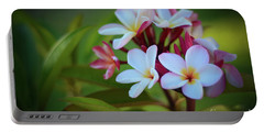 Plumeria Sunset Portable Battery Charger by Kelly Wade