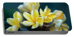 Plumerias Out Of The Blue Portable Battery Charger