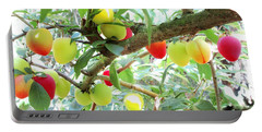 Plums On A Branch Portable Battery Charger