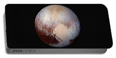Pluto Dazzles In False Color Portable Battery Charger by Nasa