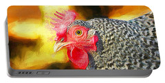 Plymouth Barred Rock Portrait Portable Battery Charger