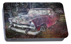 Portable Battery Charger featuring the photograph Plymouth Belvedere by Debra and Dave Vanderlaan