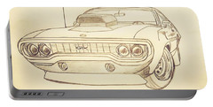 Plymouth Gtx American Muscle Car - Antique  Portable Battery Charger