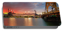 Pnc Park At Sunset Portable Battery Charger