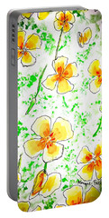 Pocket Full Of Poppies Portable Battery Charger