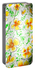 Portable Battery Charger featuring the painting Pocket Full Of Poppies by Monique Faella