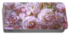Portable Battery Charger featuring the digital art Pocket Full Of Roses by Kari Nanstad