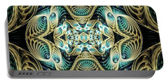 Portable Battery Charger featuring the digital art Poetry In Motion by Lea Wiggins