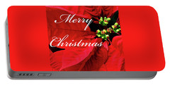 Poinsettia  Portable Battery Charger
