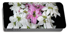 Poinsettia Display Portable Battery Charger