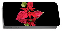 Poinsettia Reflection  Portable Battery Charger