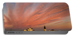 Point Judith Lighthouse Sunset Portable Battery Charger
