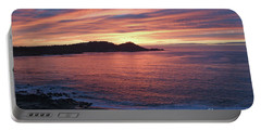Point Lobos Red Sunset Portable Battery Charger