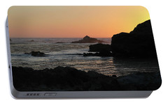 Portable Battery Charger featuring the photograph Point Lobos Sunset by David Chandler