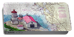 Point Reyes Light Station Portable Battery Charger by Mike Robles