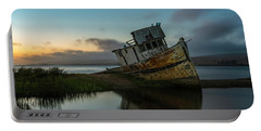 Point Reyes Shipwreck Sunset Portable Battery Charger