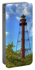 Point Ybel Lighthouse Portable Battery Charger by Sharon Batdorf