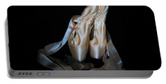Pointe Shoes And Dog Tags1 Portable Battery Charger by Laurianna Taylor