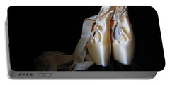 Pointe Shoes2 Portable Battery Charger by Laurianna Taylor