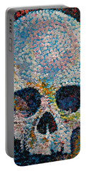 Pointillism Skull Portable Battery Charger