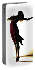 Poise In Silhouette Portable Battery Charger