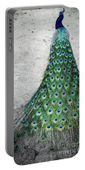 Poised Peacock Portable Battery Charger