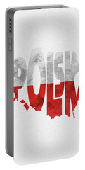 Poland Typographic Map Flag Portable Battery Charger