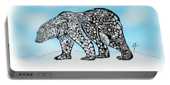 Polar Bear Doodle Portable Battery Charger