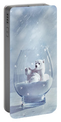 Polar Bear In Snow Globe Portable Battery Charger