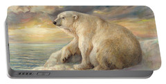 Polar Bear Rests On The Ice - Arctic Alaska Portable Battery Charger by Svitozar Nenyuk