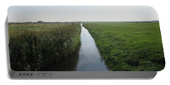 Polder Near Camperduin Portable Battery Charger