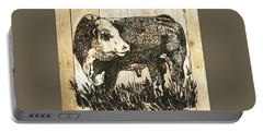 Portable Battery Charger featuring the photograph Polled Hereford Bull 11 by Larry Campbell