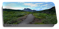 Portable Battery Charger featuring the photograph Polychrome Pass Trail, Denali by Zawhaus Photography