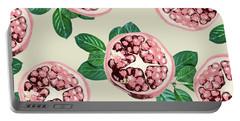 Pomegranate Pattern Portable Battery Charger by Uma Gokhale