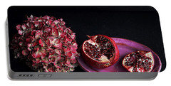 Pomegranate Still Life Portable Battery Charger