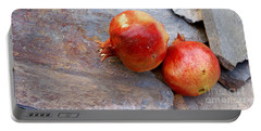 Portable Battery Charger featuring the photograph Pomegranates On Stone by Cindy Garber Iverson