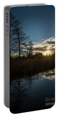 Pond At Sunset-rawlinson Park Portable Battery Charger