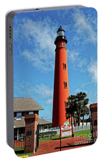 Portable Battery Charger featuring the photograph Ponce Inlet Light by Paul Mashburn