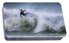 Portable Battery Charger featuring the photograph Ponce Surf 2017 by Deborah Benoit