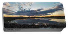 Pond And Sky Reflection2 Portable Battery Charger