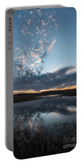 Pond And Sky Reflection3 Portable Battery Charger