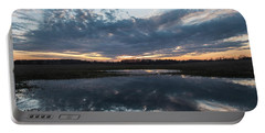 Pond And Sky Reflection3a Portable Battery Charger