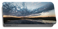 Pond And Sky Reflection4 Portable Battery Charger