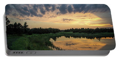 Pond And Sunset Portable Battery Charger