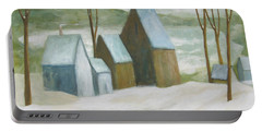Pond Farm In Winter Portable Battery Charger by Glenn Quist