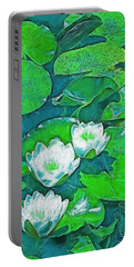 Portable Battery Charger featuring the photograph Pond Lily 2 by Pamela Cooper