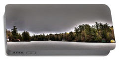Pond Panorama Portable Battery Charger by David Patterson