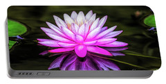Pond Water Lily Portable Battery Charger