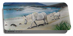 Ponies Of Muck- Painting Portable Battery Charger by Veronica Rickard