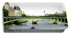 Pont Au Change Over The Seine River In Paris Portable Battery Charger